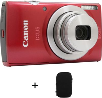 Appareil photo Compact Canon Ixus 185 Rouge + Etui
