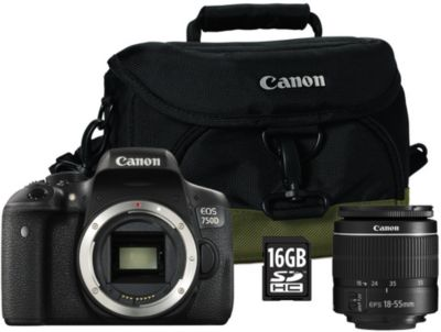 Appareil Photo reflex canon eos 750d + 18-55 dc + etui + sd 16go