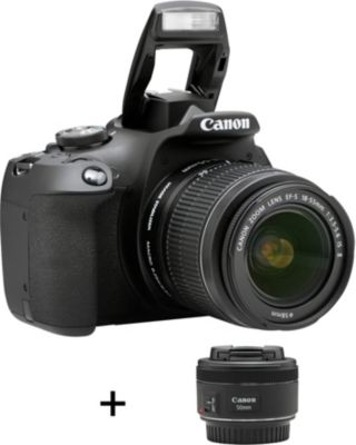 Appareil photo Reflex Canon EOS 2000D + EF-S 18-55 IS II + EF...