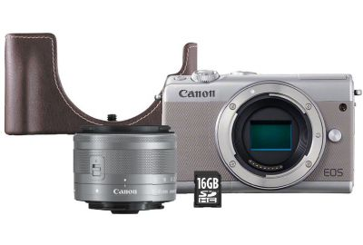 APN CANON EOS M100 Gris+15-45mm+Etui+SD