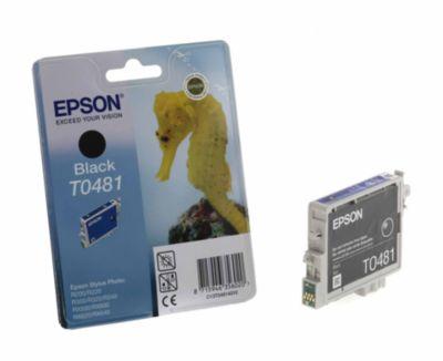Cartouche d'encre Epson T0481 Noire série Hippocampe