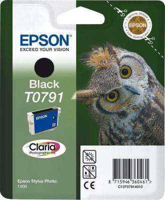 Cartouche d'encre Epson T0791 Noire série Chouette