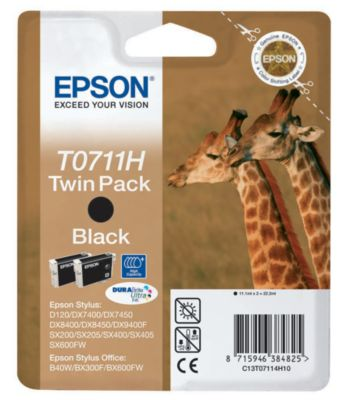 Cartouche d'encre Epson T07114H deux cartouches série Guépard