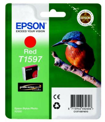 Cartouche d'encre Epson T1597 Rouge série Martin Pêcheur