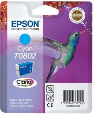 Cartouche d'encre Epson T0802 Cyan série Colibri