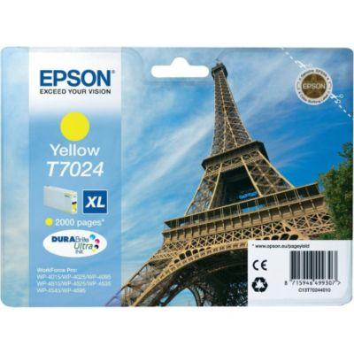 Cartouche d'encre Epson T7024 XL Jaune Série Tour Eiffel
