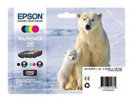Cartouche d'encre Epson T261 (N/C/M/J) Série Ours Polaire