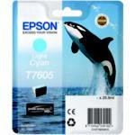 Cartouche EPSON T7605 cyan clair Orque