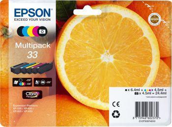 Cartouche d'encre Epson T3337 (N/NP/C/M/J) Série Orange