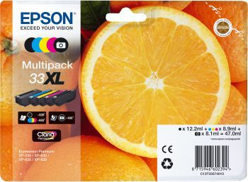 Cartouche d'encre Epson T3357 (N/NP/C/H/J) XL Série Orange