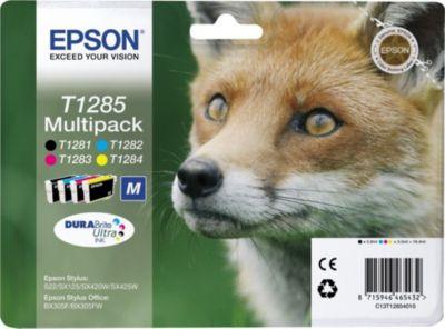 Cartouche d'encre Epson T1285 (n/c/m/j) série Renard