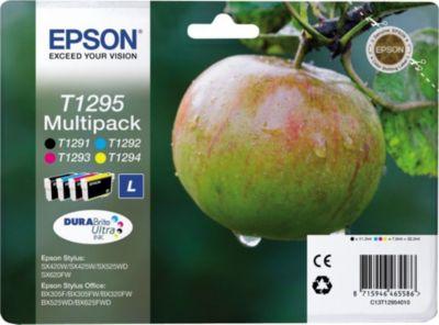 Cartouche d'encre Epson T1295 (n/c/m/j) série Pomme