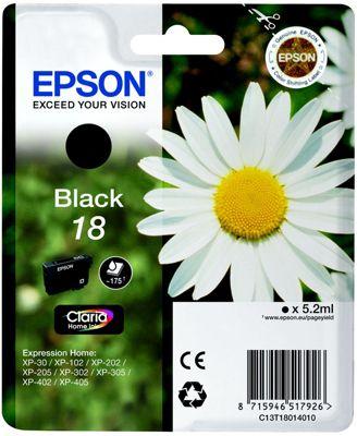 Cartouche d'encre Epson T1801 Noire Série Paquerette