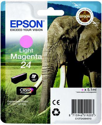 Cartouche d'encre Epson T2426 Magenta Clair Série Eléphant