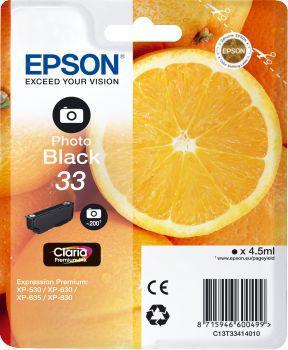Cartouche d'encre Epson T3341 Noire Photo Premium Série Orange