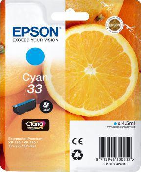 Cartouche d'encre Epson T3342 Cyan Premium Série Orange