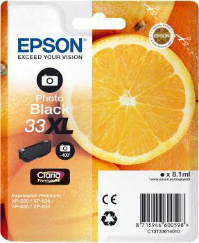Cartouche d'encre Epson T3361 Noire PhotoXL Premium Série Orange