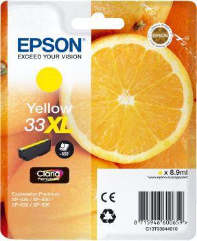 Cartouche d'encre Epson T3364 Jaune XL Premium Série Orange