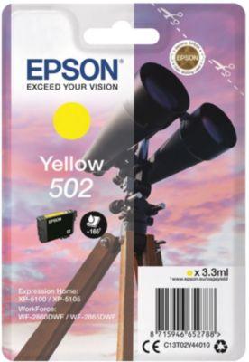 Cartouche couleur Epson 502 Jaune Série Jumelles