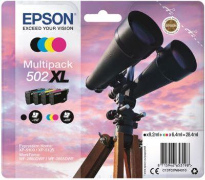 Cartouche d'encre Epson 502 (N/C/M/J) XL Série Jumelles