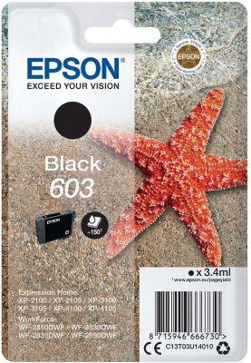 Cartouche d'encre Epson 603 Etoile de Mer noire