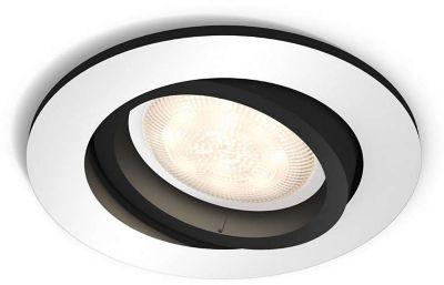 Plafonnier Philips MILLISKIN Spot encastré Blanc + Télécom.