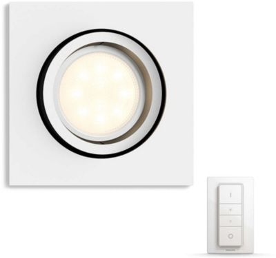 Plafonnier Philips MILLISKIN Blanc + télécommande