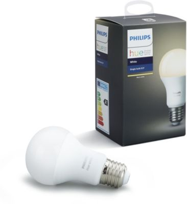Ampoule Connectable philips e27 hue white + assistant vocal amazon echo plus 2 blanc