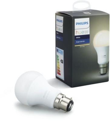 philips b22 hue white ampoule connect e boulanger. Black Bedroom Furniture Sets. Home Design Ideas