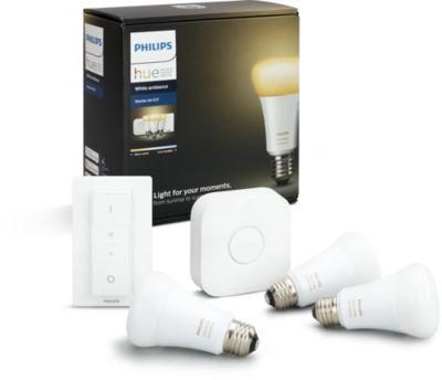 Ampoule connect e philips d marrage e27 hue white - Ampoule connectee philips ...