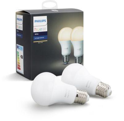 Philips pack x2 e27 hue white ampoule connect e boulanger - Ampoule connectee philips ...
