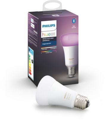 Ampoule connectée Philips E27 Hue White & Colors