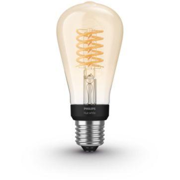 Ampoule connectée PHILIPS HW 9W Filament Edison E27x1