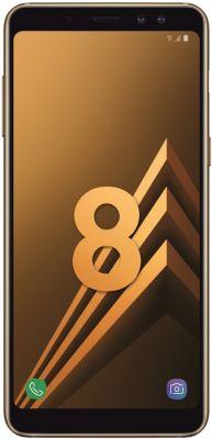 Smartphone Samsung Galaxy A8 Gold + Coque Force Case Life A8 Darck Grey +  Force Glass Original incurvé A8