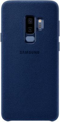 Coque Samsung s9+ alcantara bleu