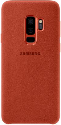 Coque Samsung S9+ Alcantara Rouge