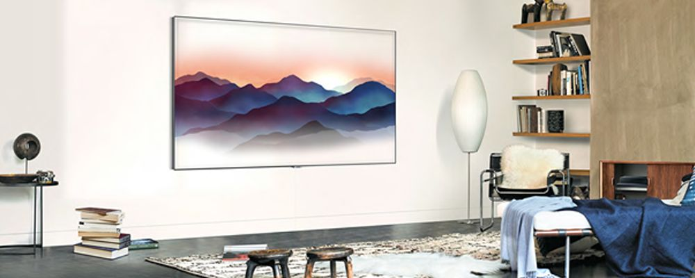 TV Samsung QLED en Mode Ambiant