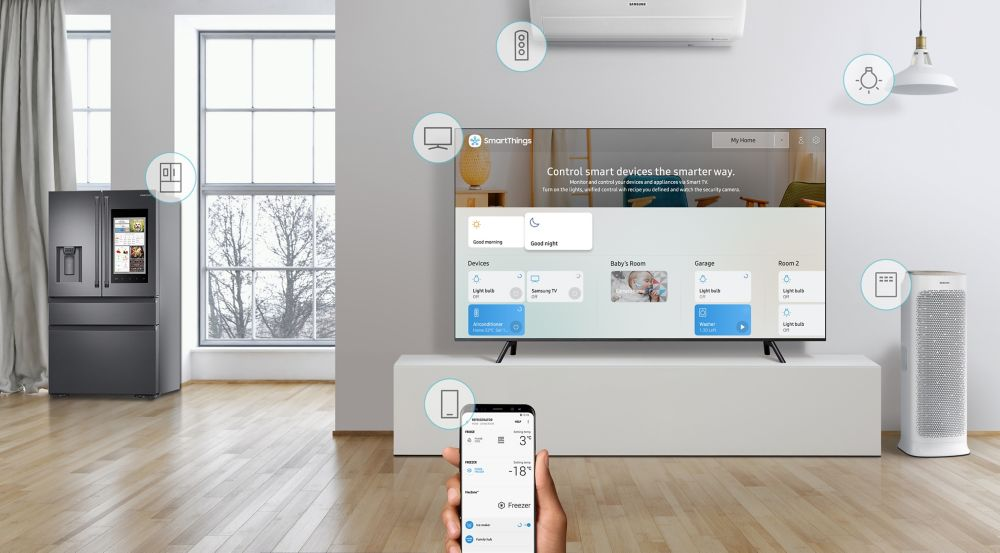 Application SmartThings Samsung QLED