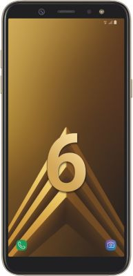 Smartphone Samsung Galaxy A6 Gold + Etui Samsung A6 Flip Wallet Gold