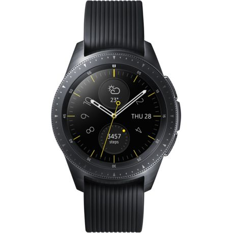 montre connect e samsung galaxy watch noir carbone 42mm. Black Bedroom Furniture Sets. Home Design Ideas