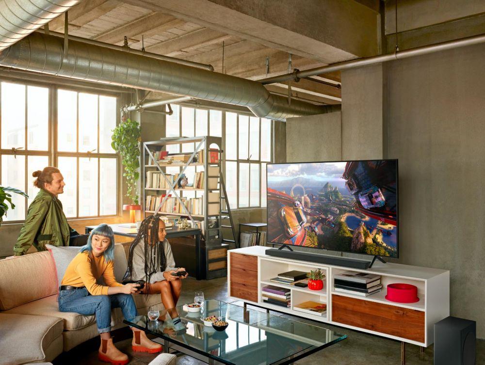 Barre de son Samsung au sein d'un salon