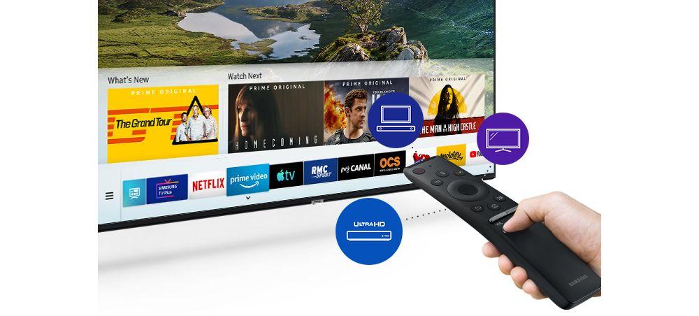 TV Samsung 4K UHD avec télécommande