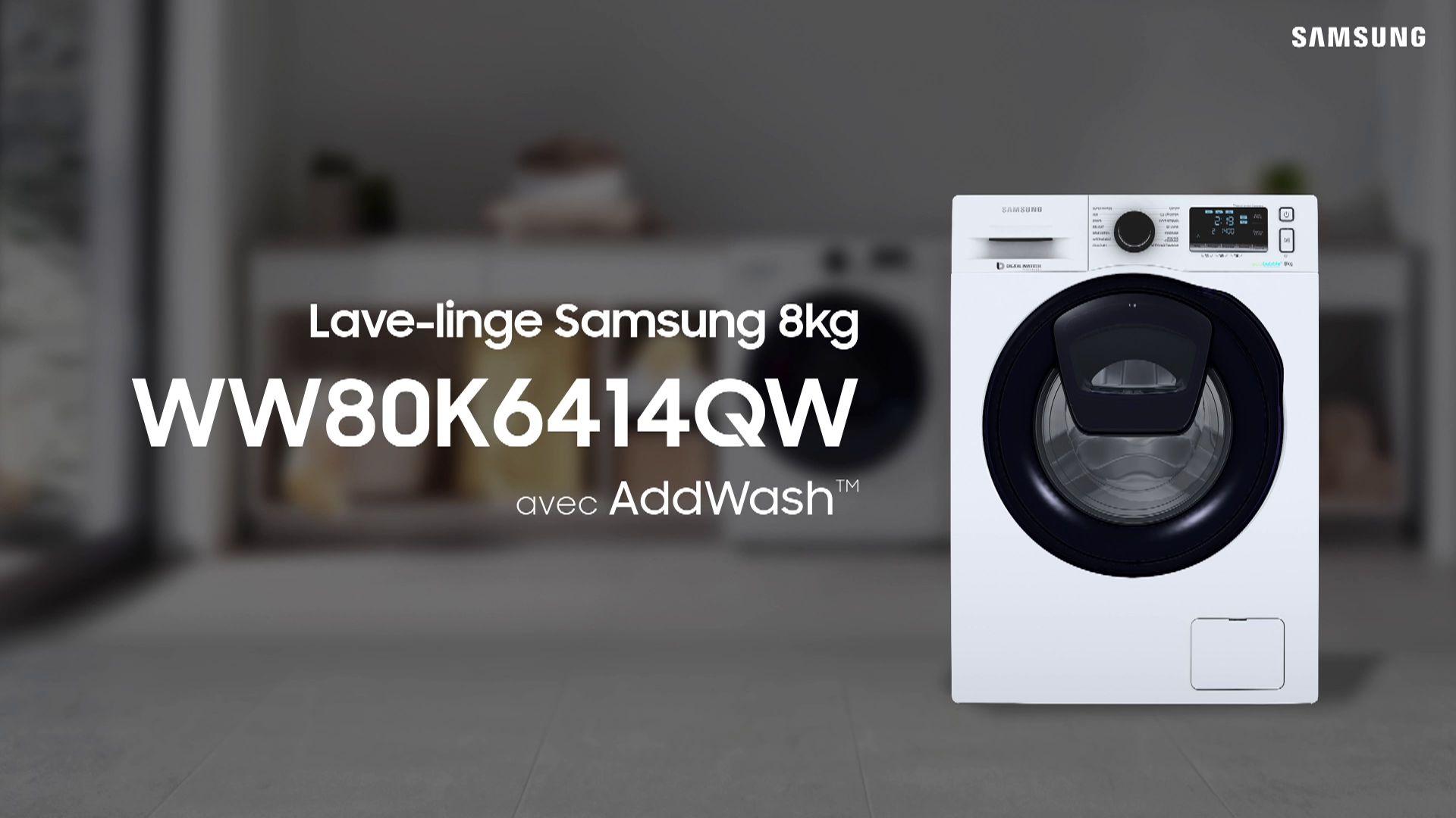 Samsung Add Wash Ww80k6414qw Lave Linge Hublot Boulanger