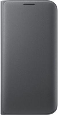 Etui Samsung flip wallet galaxy s7 edge noir