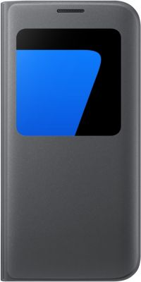 Etui Samsung s view cover galaxy s7 edge noir