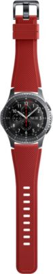 photo Bracelet Samsung Gear S3 Active silicon rouge