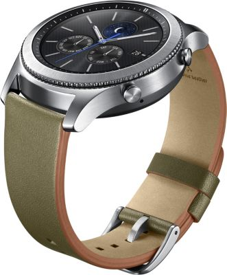 photo Bracelet Samsung Gear S3 Classic cuir vert olive