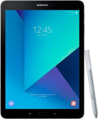 Tablette Android Samsung Galaxy Tab S3 9.7'' 32Go Argent + Etui tablette Essentielb Tab S3 9.7'' rotatif noir + Carte Micro SD Essentielb 32Go micro SDHC Loisir