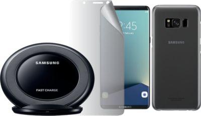 Coque + protège écran samsung coque s8+, pad à induction+protège écran