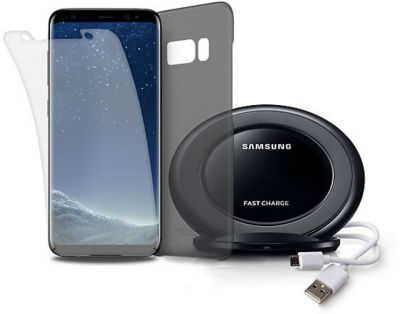 Coque + protège écran samsung coque s8, pad à induction+protège écran